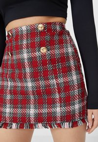 Stradivarius - A-line skirt - red - 3