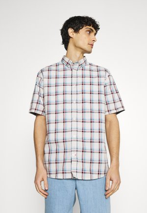 REGULAR SPACE DYE CHECK - Shirt - soft offwhite