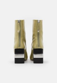 Topshop - HARRIS BLOCK - High heeled ankle boots - lime - 3