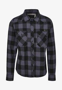 Brandit - HERREN CHECKSHIRT - Camicia - black/charcoal - 4