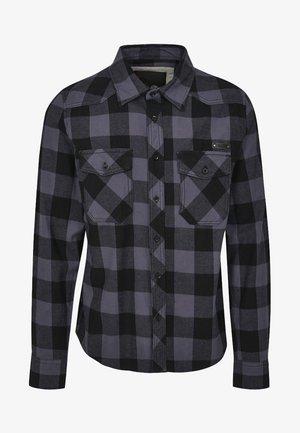 HERREN CHECKSHIRT - Shirt - black/charcoal