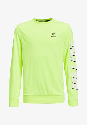 Long sleeved top - bright yellow