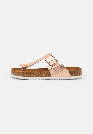 ONLMATHILDA METALLIC TOE SPLIT - T-bar sandals - rose gold