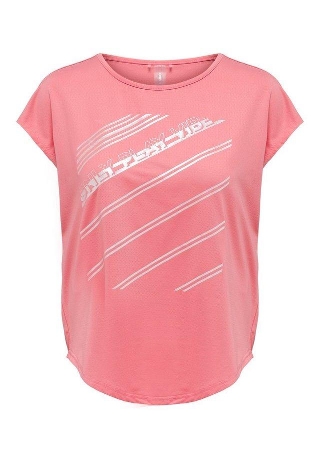 Print T-shirt - strawberry pink