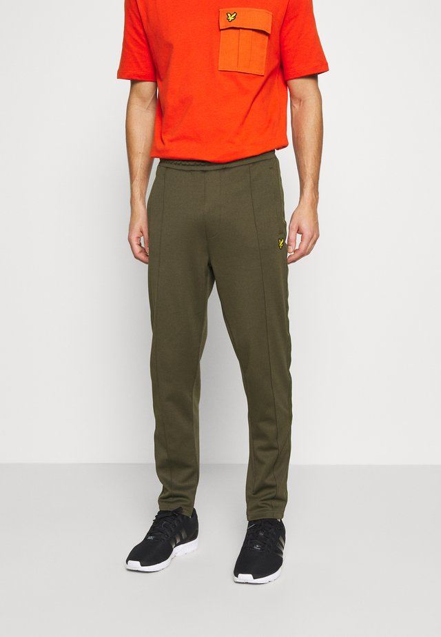 TRACK PANT WITH TAPING - Teplákové kalhoty - trek green