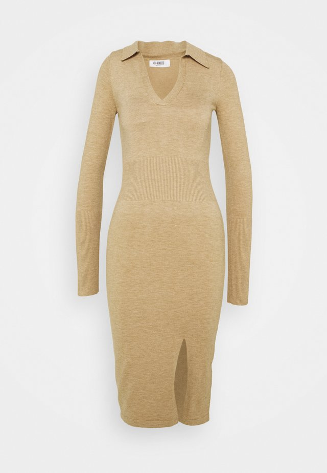 ALBANDY DRESS - Gebreide jurk - beige