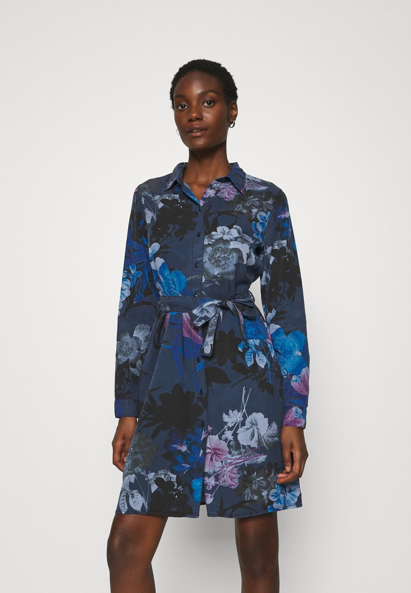 Desigual - VEST FLORENCIA - Shirt dress - navy