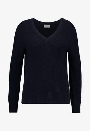 VIMYNTANI POINTELLE - Stickad tröja - navy blazer