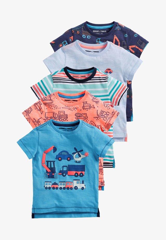 FIVE PACK - T-shirt imprimé - blue