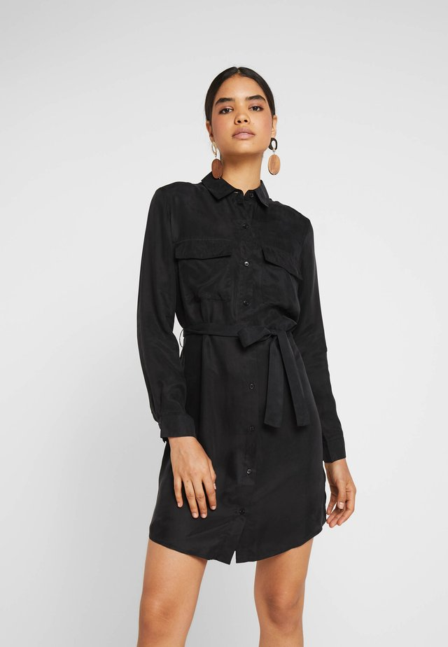 FARHA DRESS - Shirt dress - black