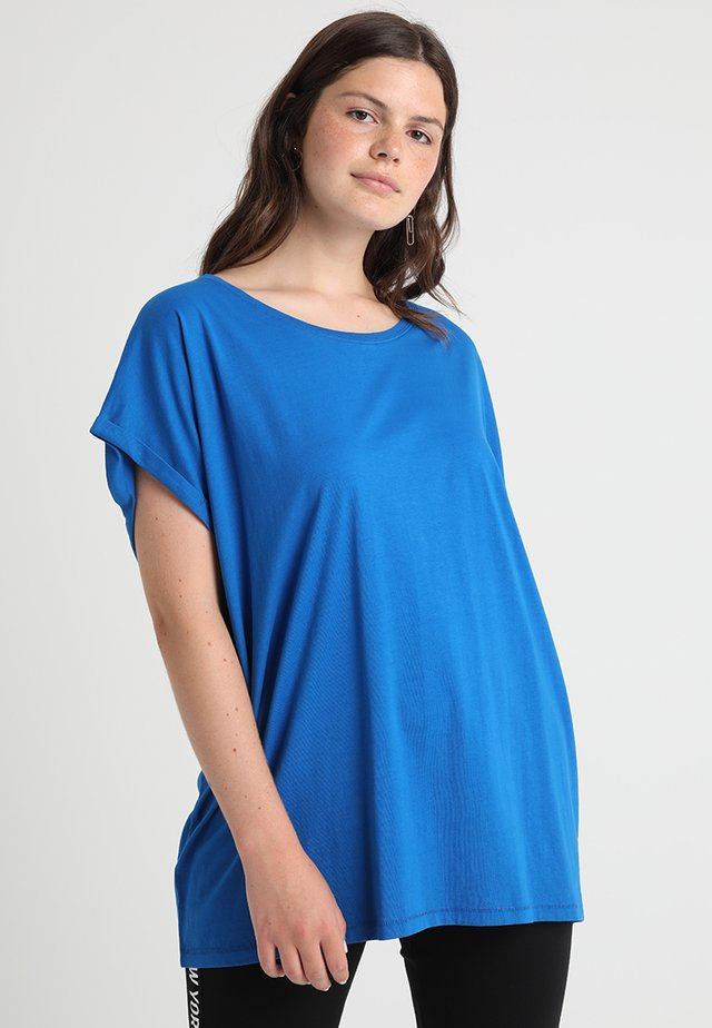 LADIES EXTENDED SHOULDER TEE - T-shirts - bright blue
