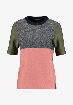 COLOUR BLOCK SHORT SLEEVE TEE - Triko s potiskem - combo