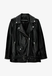 Uterqüe - Leather jacket - black - 4