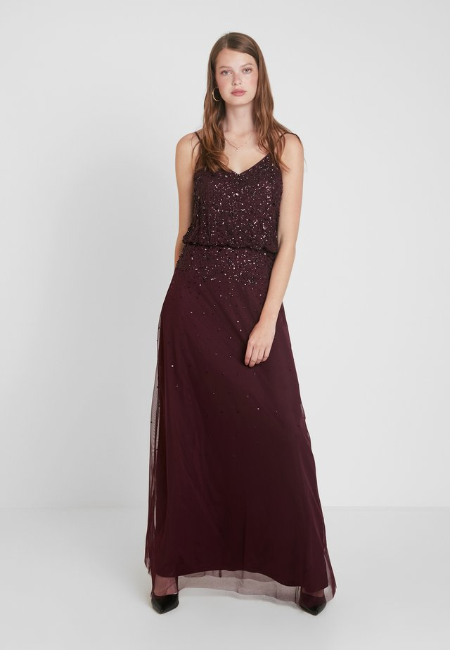 PIPPA LOU VNECK POP OVER DRESS - Occasion wear - oxblood