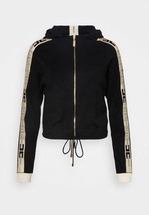 Zip-up sweatshirt - nero/burro