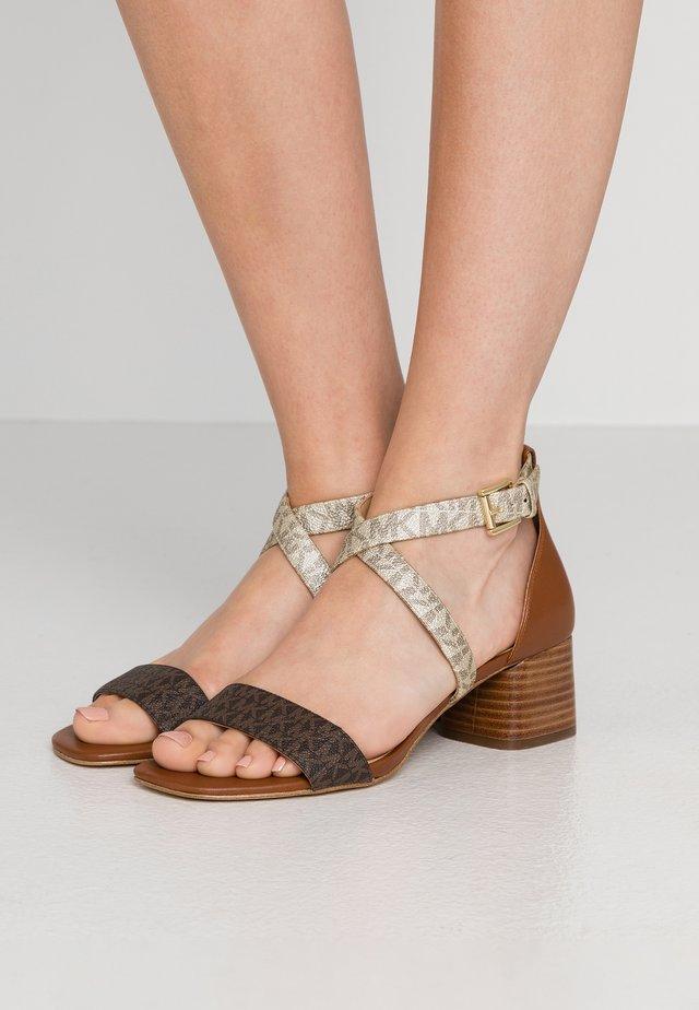 DIANE MID - Sandals - brown/multicolor