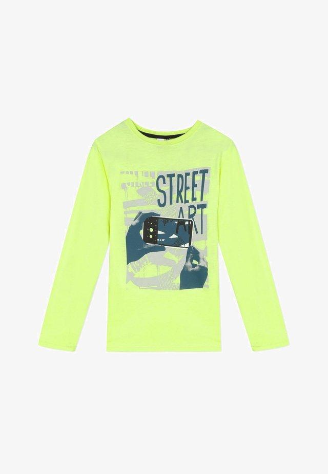 GRAPHIC - Camiseta de manga larga - neon yellow