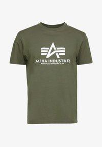 Alpha Industries - Printtipaita - dark oliv - 3