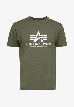 T-shirt imprimé - dark oliv