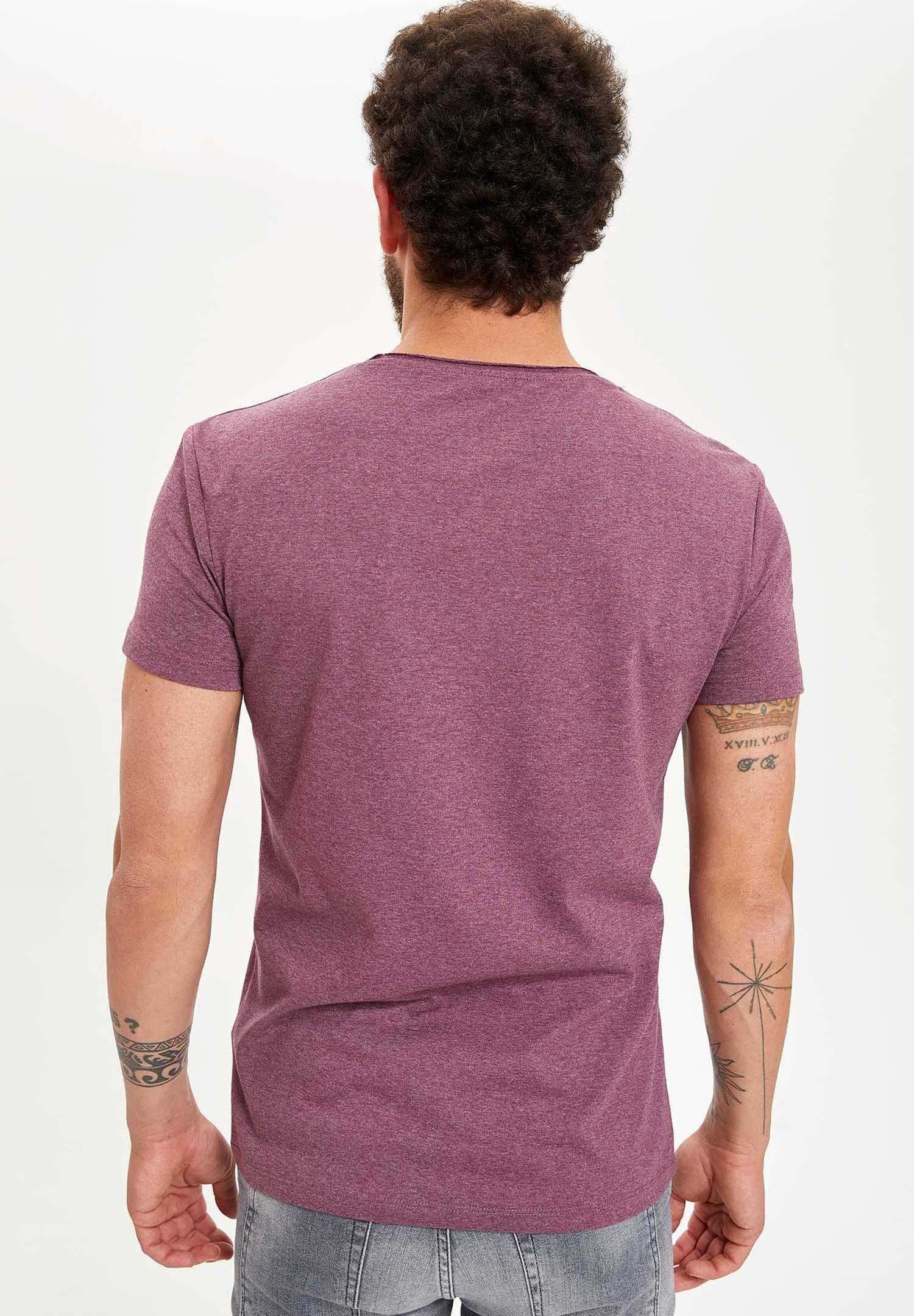 DeFacto Print T-shirt - purple Is7ou