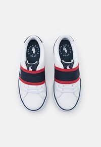 Polo Ralph Lauren - THERON UNISEX - Sneakers - white tumbled/navy/red gore - 3