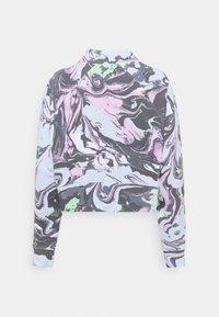 DKNY - MARBLE PRINT CROPPED RAGLAN CREWNECK - Sweatshirt - lilac - 1
