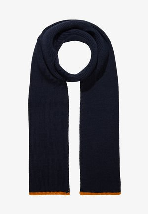 Sjal -  dark blue/ mustard