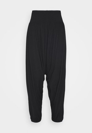 HAREM ELASTIC PANT  - Trousers - black