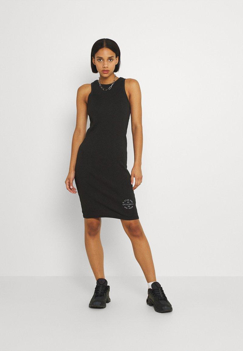 G-Star - ENGINEERED TANK DRESS - Etui-jurk - dk black