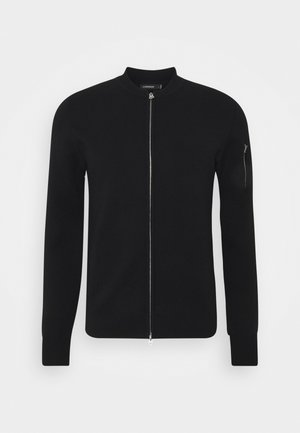 LANDON ZIP CARDIGAN - Kardigan - black