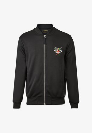 TILL DEATH BOMBER TRACKTOP - Zip-up hoodie - black