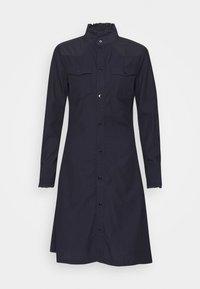 WESTERN SLIM FRILL DRESS - Shirt dress - rinsed
