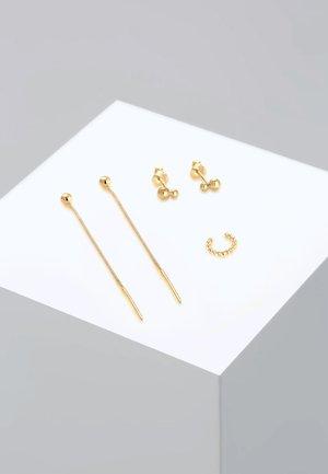 3 SET - Earrings - gold-coloured