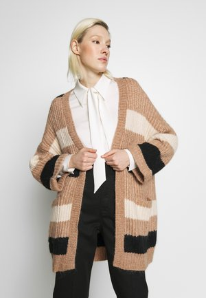 SUNDAY STRIPE CARDIGAN - Cardigan - carbon/almondine