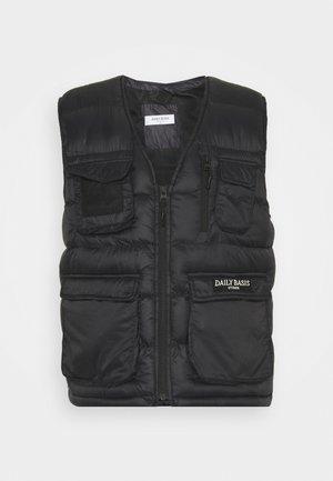 PADDED UTILITY VEST UNISEX - Bodywarmer - black