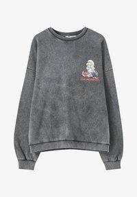 PULL&BEAR - Sweatshirts - mottled dark grey - 5