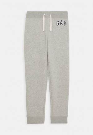 BOYS HERITAGE LOGO - Tracksuit bottoms - light heather grey