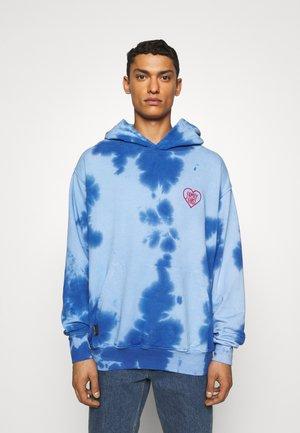 HOODIE TIE DYE HEART - Sweater - blue