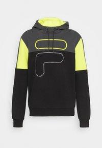 Fila - PARSOM BLOCKED HOODY - Sweatshirt - black/asphalt/sulphur spring - 4