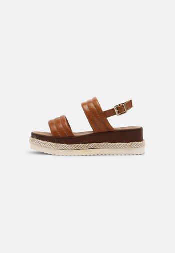 KAZZY - Platform sandals - tan