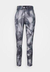 RUN 7/8 - Leggings - black/silver