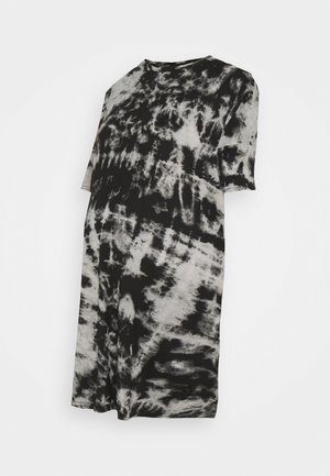 TIE DYE DRESS - Jersey dress - black
