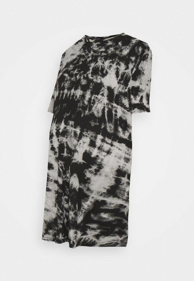TIE DYE DRESS - Jersey dress - black