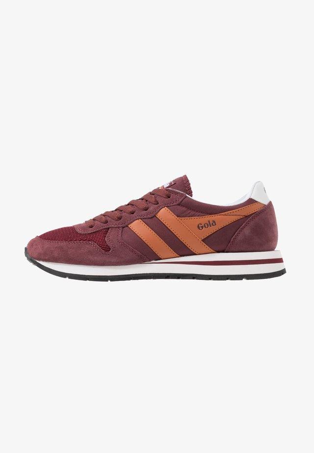 DAYTONA - Sneakersy niskie - burgundy/orange/white
