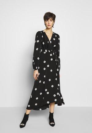 SPADE CLOVER TOSS WRAP DRESS - Day dress - black