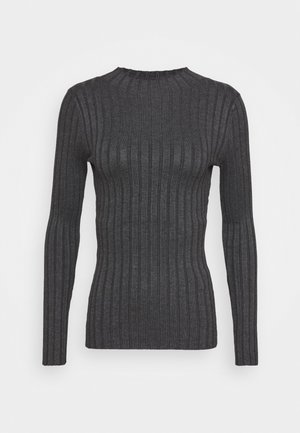 Wide rib jumper - Strikkegenser - dark grey melange