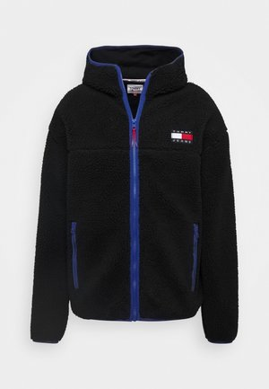 SHERPA ZIP THRU HOODIE - Fleece jacket - black