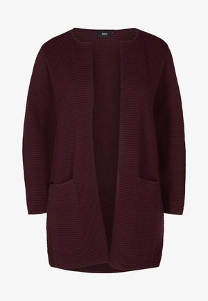 Cardigan - dark bordeaux