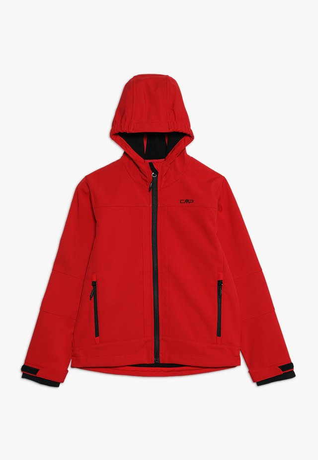 KID FIX HOOD UNISEX - Softshellová bunda - red/nero
