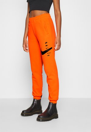 PANT - Joggebukse - total orange/black